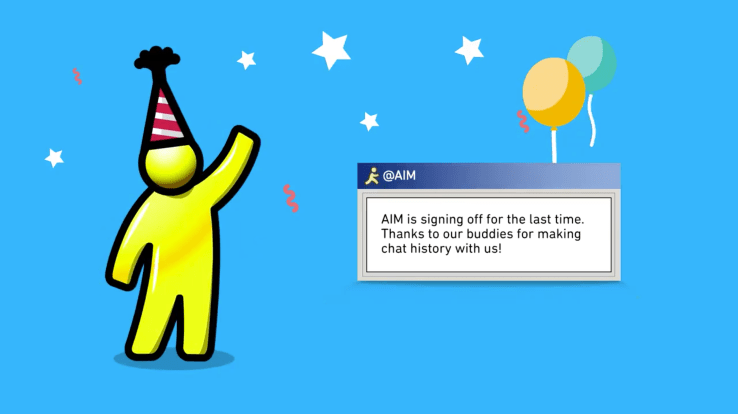 AOL AIM messenger shuts down