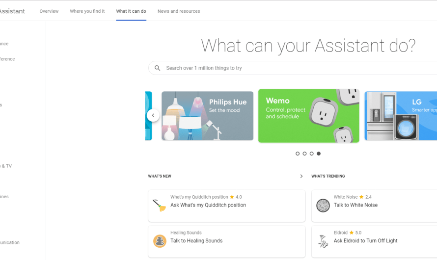 Google Finally Launches a Web Directory for Google Assistant
