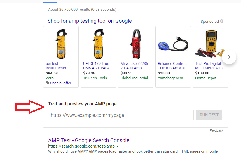 Google Now Displays AMP Testing Tool Right on the SERP