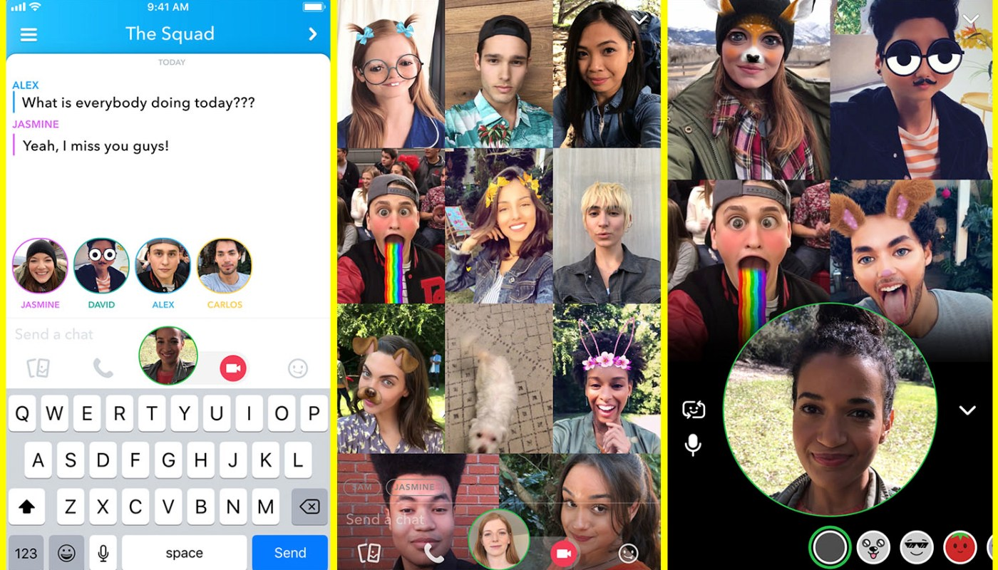 Snapchat group video chat