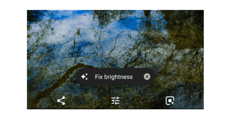 Google Photos auto brightness fix