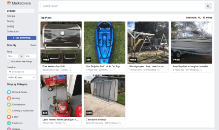 Facebook Marketplace sponsored listings