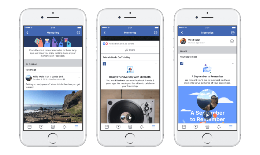 Facebook Now has a Dedicated Section for Memories of All Kinds