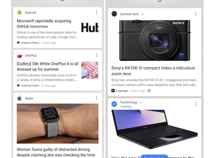 The Google Feed is Now Displaying New Topic Pages