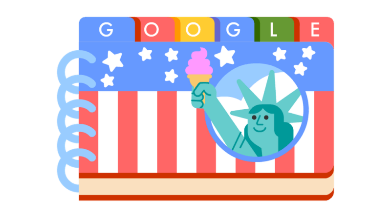 Google July Fourth Doodle