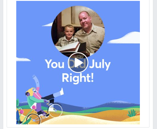 2018 Facebook July Moments video