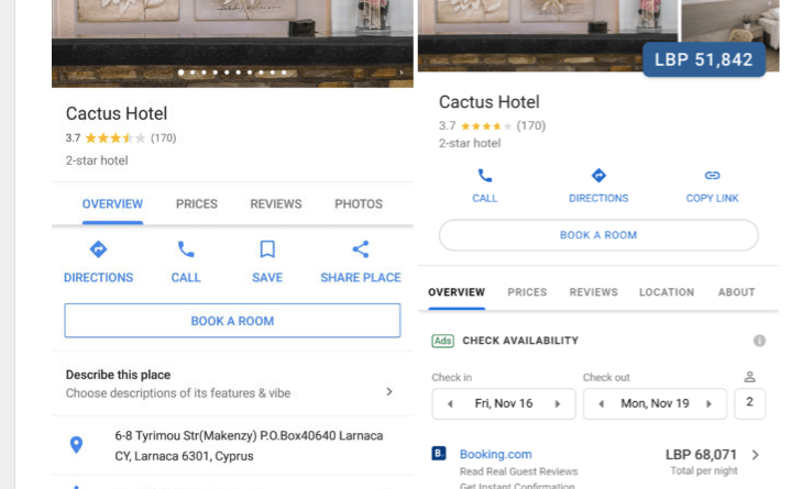 Latest Google Maps Hotel Listings Update includes New Features ... on