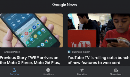 Google News dark mode