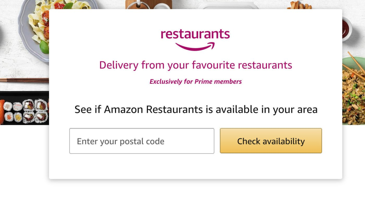Amazon restaurant delivery service