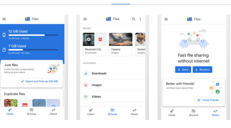 Files by Google app