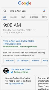 time in New York