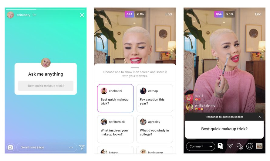 Instagram Question Stickers Come to Live Video and There's also a Music Sharing Option