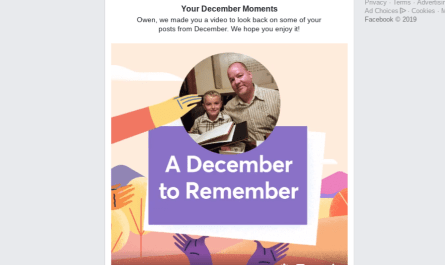 2018 Facebook December Moments video