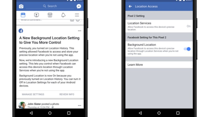 Facebook background location tracking block