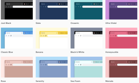 new Google Chrome color themes