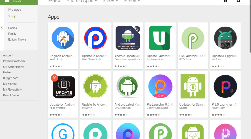 fake Android phone software update apps