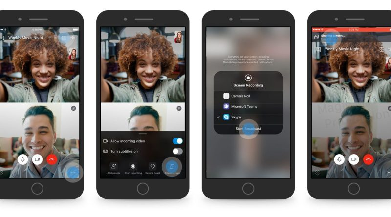 Skype video call screen sharing