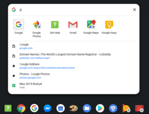 Chrome OS 74 unified search screenshot 2
