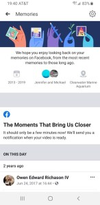 Facebook The Moments That Bring Us Closer video message