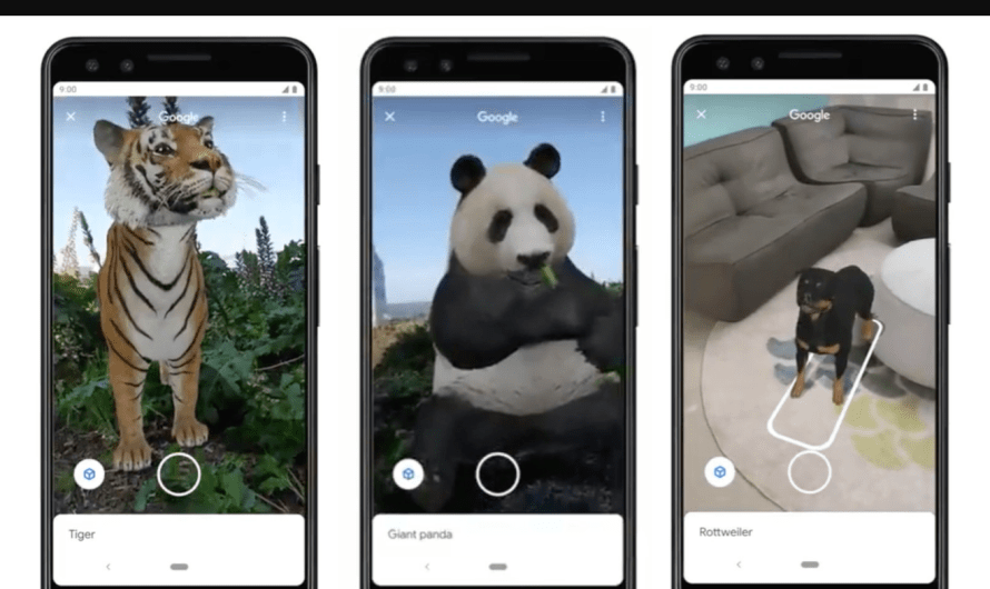 Google Now includes Augmented Reality Animals in its Search Results