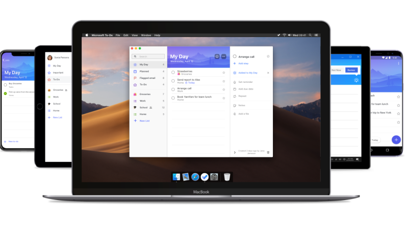 Microsoft To-Do Mac desktop app