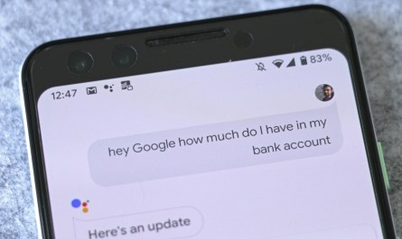 Google Assistant voice banking