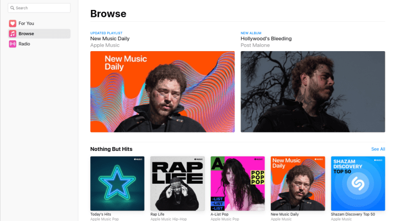 Apple Music desktop