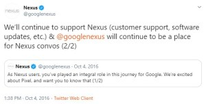 Google Nexus Twitter account switched to private