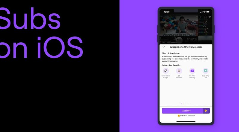 Twitch iOS subscriptions