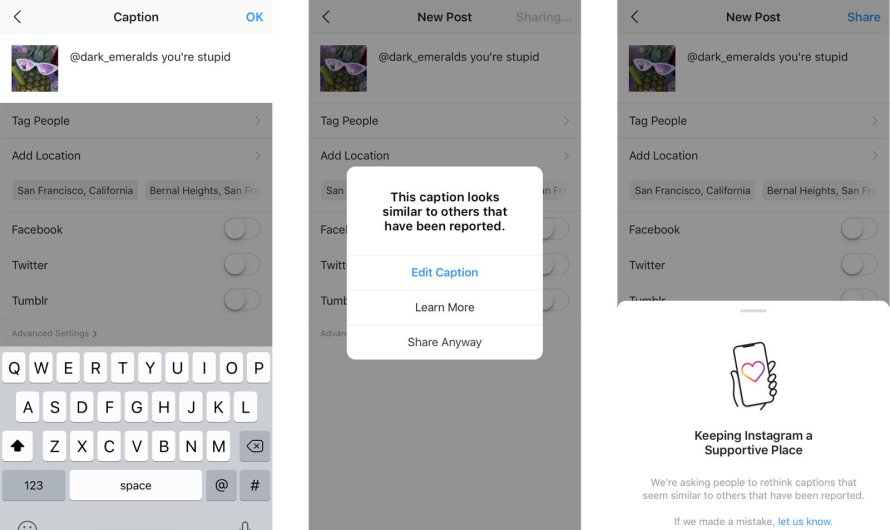 Instagram Introduces a New AI Filter that Spots Bully Language before it's Posted