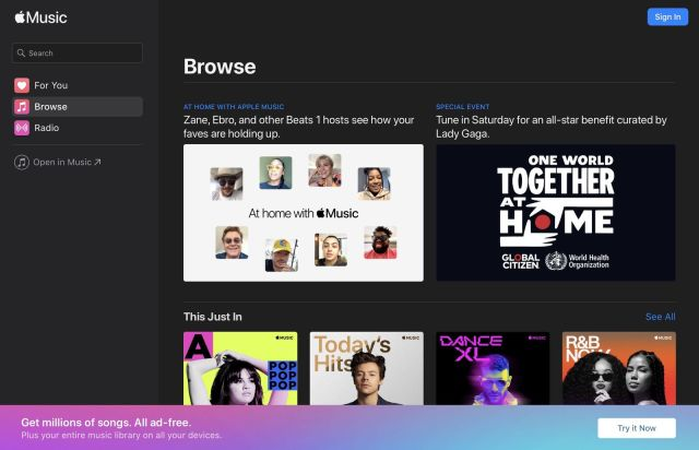 Apple Brings its Music Web Player Out of Beta, Now Available on Windows 10, Chrome OS, and Linux