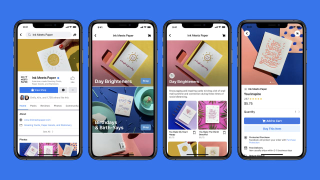 Facebook Introduces 'Shops,' a New Way to Turn Business Pages into Online Stores