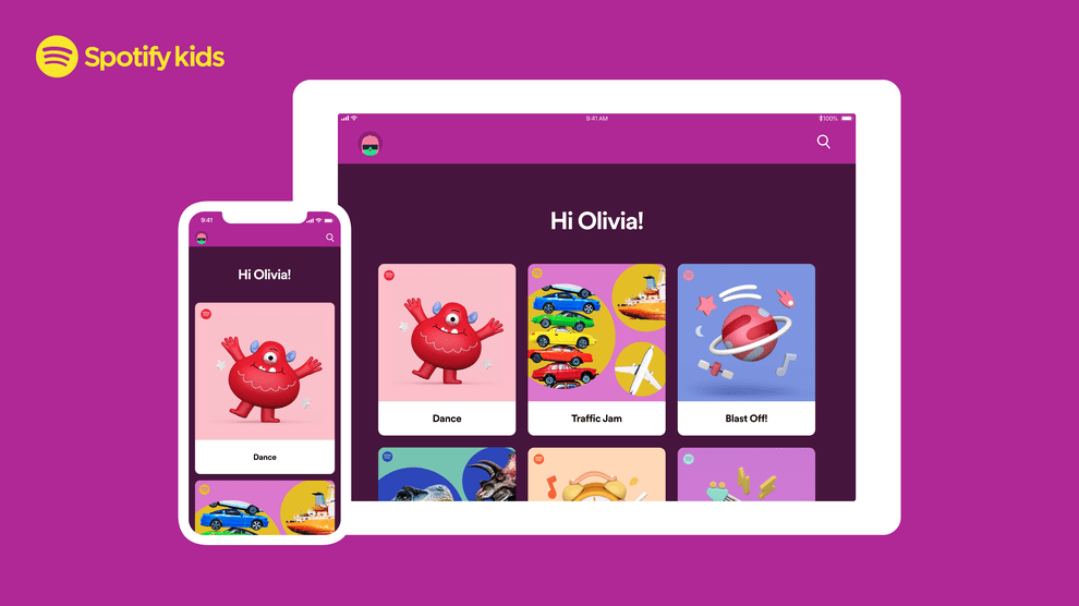 Spotify Kids adds blocking and listening history parental features