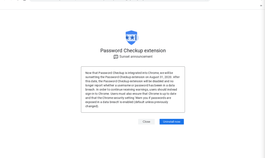 Google Prompting Password Checkup Users to Uninstall its Extension Now the Feature is Integrated into Chrome