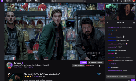 Twitch's Prime Video Watch Party Option is Now Available to Everyone