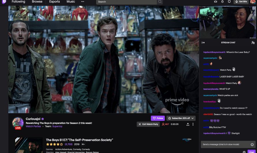 Twitch has Made its Prime Video Watch Parties available to Everyone