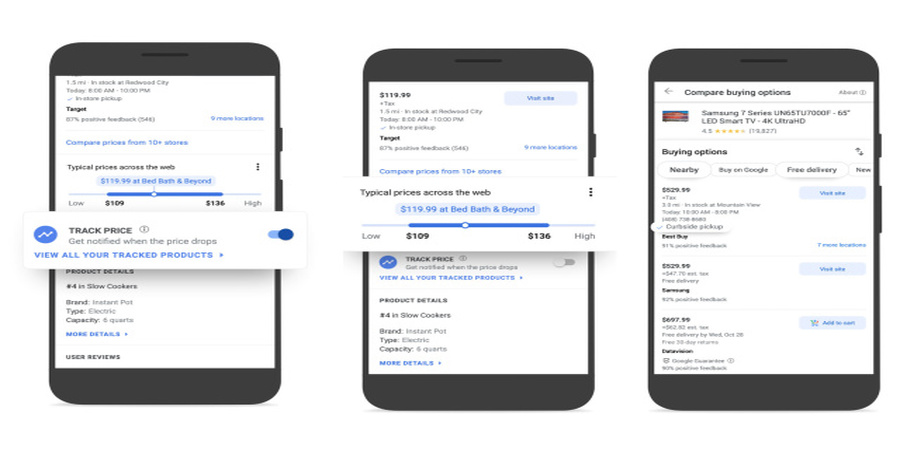 Google Shopping Introduces Price Tracking and Comparison Tools