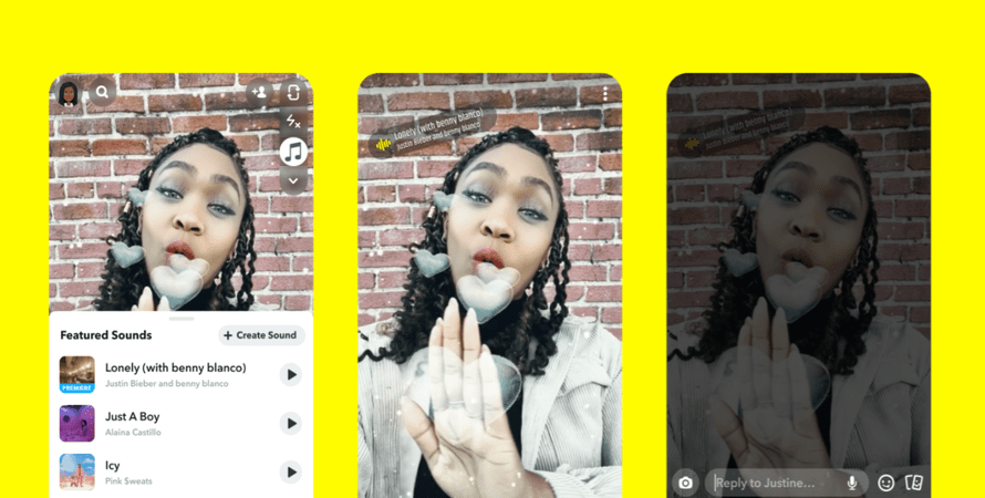 Snapchat Introduces Sounds, a Direct Competitor to TikTok