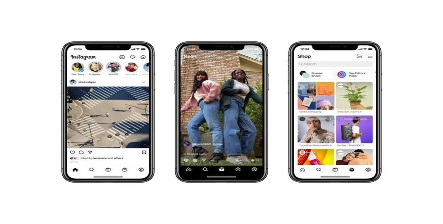 Instagram Revamps its Home Screen for the First Time in Years, Adding Reels and Shop Tabs