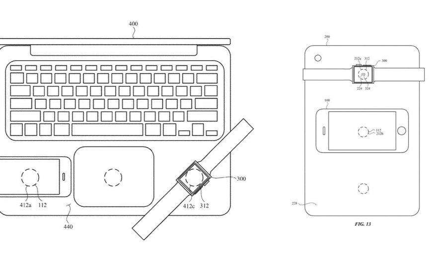 Apple's Newest Patent Shows a MacBook Wirelessly Charging Three Mobile Devices at Once