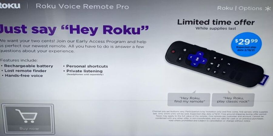 Roku is Testing a Rechargeable Remote with Customizable Buttons