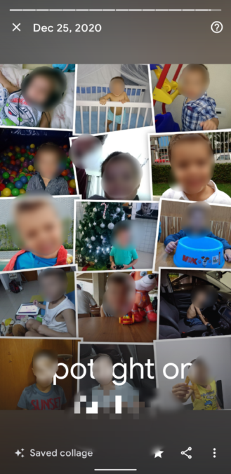 Google Photos auto generated memory collage example