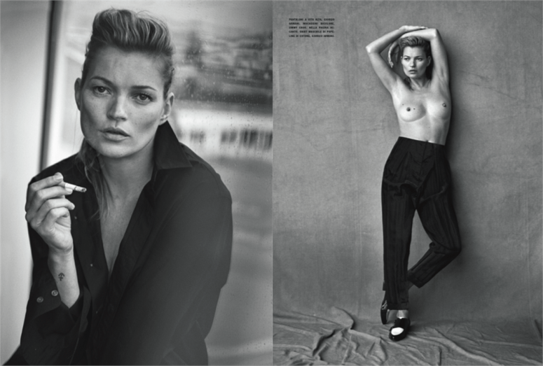 Kate Moss Vogue Italia editorial
