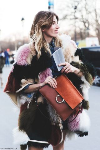 colorful faux fur coats