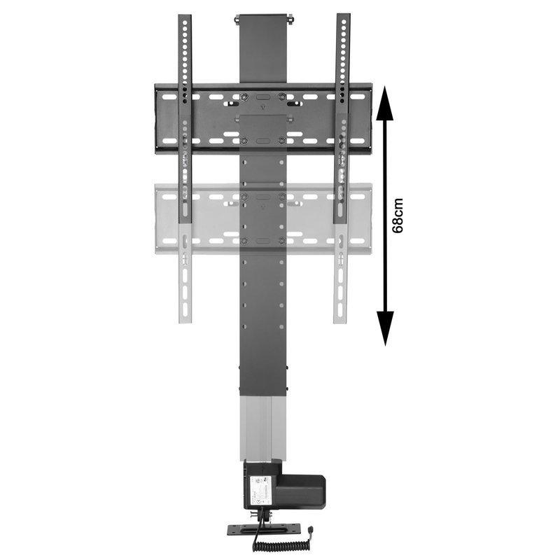 support moniteur tv motorise pour la montage mural et installation de meubles xantron premium 400he