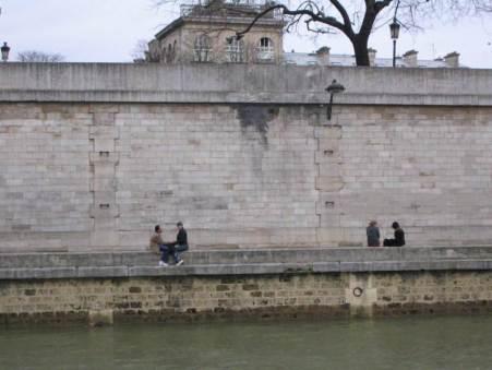 Paris City Photo - People on the other side de la Seine