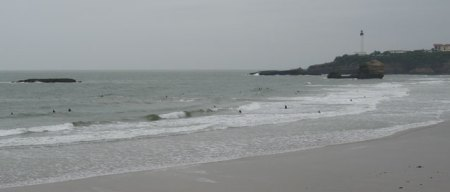 Surfers on the Grande Plage de Biarritz