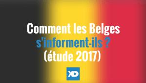 Etude sur les Belges et l'info