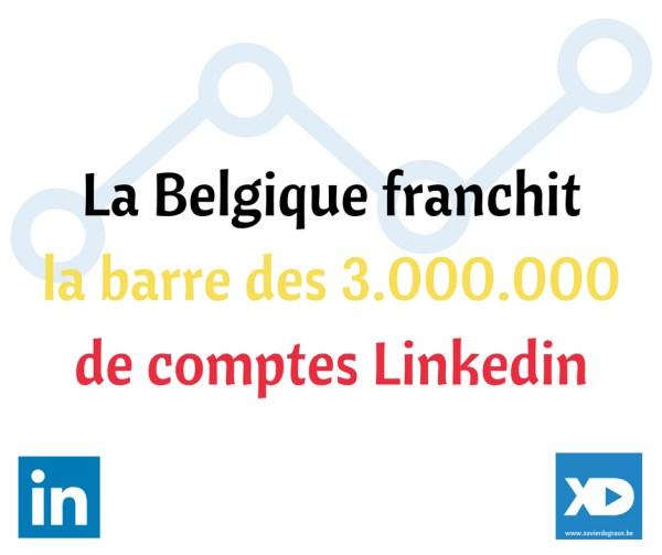 Belgique : 3 millions de comptes Linkedin
