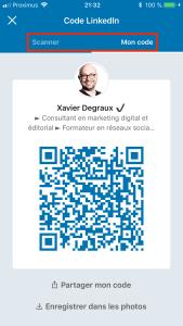 Linkedin QR Code Xavier Degraux